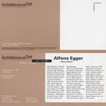 Alfons Egger  Einladung WIENER MÖBEL 1997
