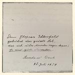 Eintrag von Leonhard Frank. 25. Juli 1957.