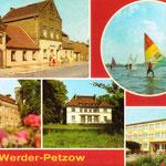 """Eine Postkarte aus dem Verlag """"Bild und Heimat, Reichenbach"""" zeigt neben Schloß und Fontane-Klause auch das Schriftstellerheim."""