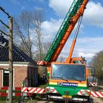 12 april: het ponton wordt verplaatst van Niesternweg naar haven