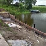 Metselwerk haven bijna klaar