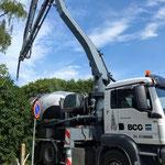 25 juni: de betonwagen aan de Niesternweg