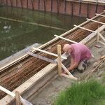 11 juli: bekisting betonrand wordt afgemaakt