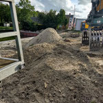 ...veel zand...