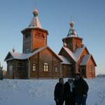 Eglise Notre-Dame d'Ibérie à Vorkouta, hiver 2014