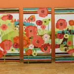 Wandbild auf 3 Keilrahmen a 40 x 80 cm, im Kundenauftrag...