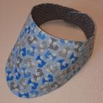 Füchse hellblau-grau, Stoff reicht nur noch für ein Wärmekissen und eine Schnullerkette