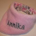 ...hier mit rosa Fleece, grauer Schrift