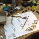 """Arbeitsprozess zum Thema """"Dreiecke die einen Kreis umschreiben"""""""