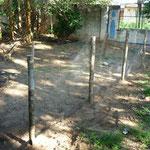 Der neue Zaun zum Nachbarsgrundstück