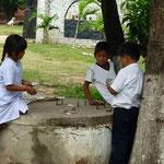 Der renovierungsbedürftige Brunnen