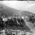 1922-1927. A group of walkers of SAT (Società Alpinisti Trentini) from Rovereto (TN).