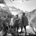 1922-1927. A group of walkers of SAT (Società Alpinisti Trentini) from Rovereto (TN) on Pasubio Mountain.