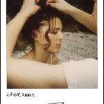 Polaroid backstage servizio di moda di Roberto Gandoli