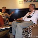 Con Amedeo Fabroni e Alessandro Molinari all'Hotel Martinez. © 2011 Alessandro Tintori