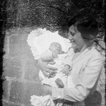 1932. Lina grandmother and Paolo, the day of Paolo's christening.