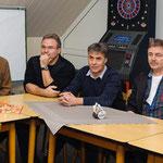 Klaus-Dieter Schulze, Dirk Brack (1.Vorsitzender), Heiner Bielefeld, Günter Vogtvom Fußballteam Groß Schneen.