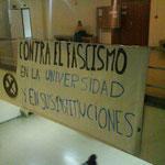 Detalle del cartel de la convocatoria de la manifestación contra el fascismo.
