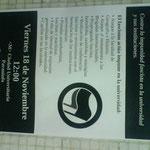 Detalle del panfleto de la convocatoria antifascista.