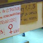 """Detalle del cartel """"1, 2, 3..."""" reutilizado en apoyo al sacrilegio de Somosaguas."""