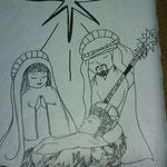 Sagrada Familia dibujada en nuestro cartel.