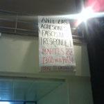 Cartel convocando la cacerolada del martes 22 de marzo.