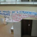 El cartel que presuntamente dio origen a la disputa.