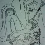 Sagrada Familia dibujada en nuestro cartel 2