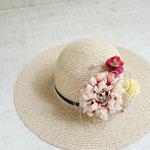 帽子にコサージュ(コサージュのみNo2537)