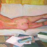 Siesta. 97 x 212cm. Oil on canvas.