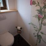 WC - auch hier wurde Wert auf das Wohnliche gelegt