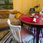 Die helle und freundliche Wohnküche
