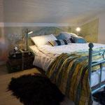 Das Schlafzimmer mit Doppelbett