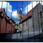 mirror, man, church