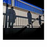 shadows, three persons