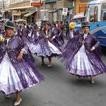 Parade in La Paz, Bolivien
