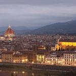 Blick auf Florenz am frühen Morgen - Italien