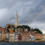 Rovinj (Kroatien) vor dem Gewittersturm