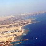 Anflug auf Hurghada