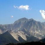 Blick in die Carrara Berge (Marmor)
