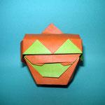 かぼちゃボックス Pumpkin Box。2017/08/07創作。正方形2枚。