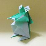 'わにくん(ちび)Croc-kun,Chick。2006/11/14創作。正方形2枚。