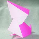 ぺりかんくん(ちび)Pelican-kun,chick。2017/3/30創作。正方形2枚。