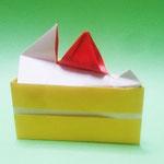 ショートケーキ Short Cake。1982/09/09創作。正方形1枚+1:3長方形1枚。