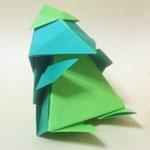 'かっぱくん(ちび) Kappa-Kun,chick。2004/7/21創作。正方形2枚。