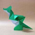 ちびドラゴン二匹目 Tiny Dragon 2nd 2018/12/12創作。正方形1枚。