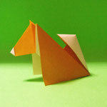 ごく普通の小型犬  Ordinary Toy Dog(しばいぬ Shiba Dog )2017/08/04創作。正方形1枚。