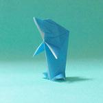 イルカの立ち泳ぎ Dolphin,Stabding Swimmer。2018/05/17創作。不折正方形一枚。