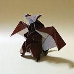 ドラゴン・ザ・グレートRG Dragon the Great RG。2019/1/19創作。正方形2枚。