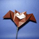 ハロウィンコウモリ Halloween Bat。2017/09/20創作。正方形1枚。